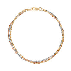 Made In Italy Womens 14K Gold Ankle Bracelet