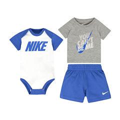Nike 3-pc. Short Set Baby Boys