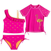Limited Too Solid Rash Guard Set - Big Kid