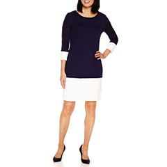 Sag Harbor 3/4 Sleeve A-Line Dress