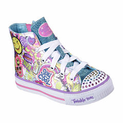 Skechers® Twinkle Toes Shuffles Girls High Top Sneakers - Little Kids