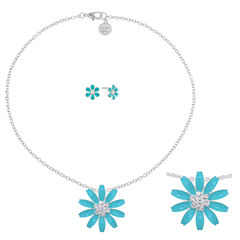 Liz Claiborne Womens 2-pc. Blue Jewelry Set
