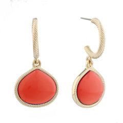 Monet Jewelry Orange Drop Earrings