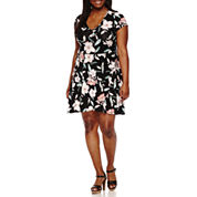 Decree Wrap Skater Dress - Juniors Plus