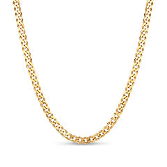Made In Italy Gold Over Silver 30 Inch Chain Necklace