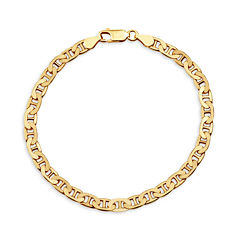 Made In Italy Unisex 8 Inch 14K Gold Over Silver Chain Bracelet