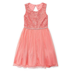 Speechless Sleeveless Fit & Flare Dress - Big Kid Girls
