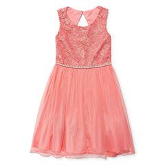 Speechless Sleeveless Fit & Flare Dress - Big Kid Girls