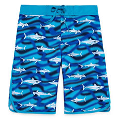 Arizona Boys Shark Swim Trunks-Boys 8-20 and Husky