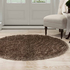 Cambridge Home Solid Shag Shag Round Rugs