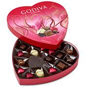 Godiva 20 Piece Valentine Heart Assorted Chocolates Box