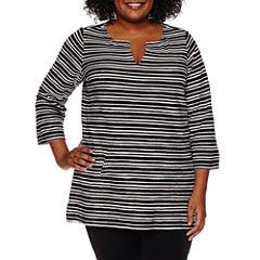 Liz Claiborne Tunic Top Plus
