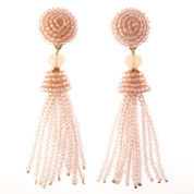 Natasha Accessories Pink Crystal Drop Earrings
