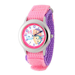 Disney Tsum Tsum Girls Pink Strap Watch-Wds000118