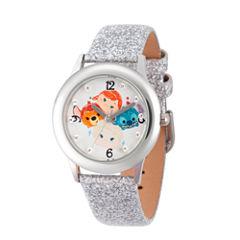 Disney Tsum Tsum Girls Silver Tone Strap Watch-Wds000119