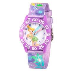 Disney Tinker Bell Girls Pink Strap Watch-Wds000132