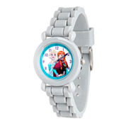 Disney Frozen Girls Gray Strap Watch-Wds000133