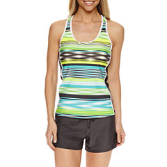 ZeroXposur® Stripe Tankini Swimsuit Top or Action Shorts