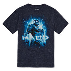 Halo Short Sleeve T-Shirt-Big Kid Boys