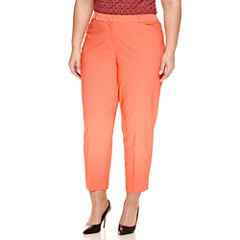 Worthington® Slim Fit Ankle Pants - Plus