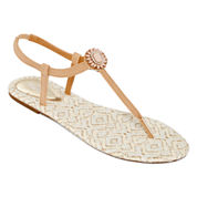 Mixit™  Opaque Flower T-Strap Sandals