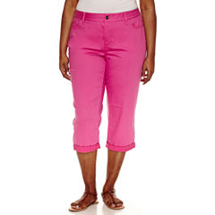 St. John's Bay Cropped Pants-Plus