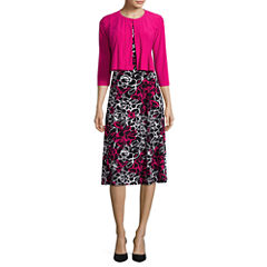 Danny & Nicole® Floral Print Jacket Dress