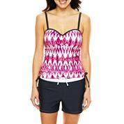 Free Country® Adjustable Bandeaukini Swim Top or Drawstring Swim Shorts