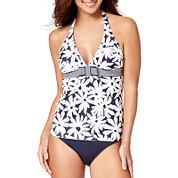 Liz Claiborne® Floral Halterkini Swim Top or Mid-Rise Swim Bottoms - Misses