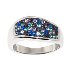 Sparkle Allure Womens Multi Color Crystal Cocktail Ring