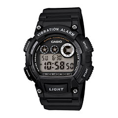 Casio® Mens Black Resin Strap Digital Sport Watch W735H-1AVCF