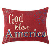 JCPenney Home™ God Bless America Oblong Decorative Pillow