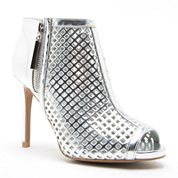 Qupid Grammy Cut-Out Peep-Toe Ankle Booties