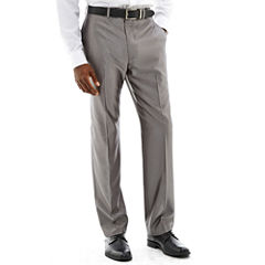 Claiborne® Shimmer Herringbone Flat-Front Stretch Suit Pants