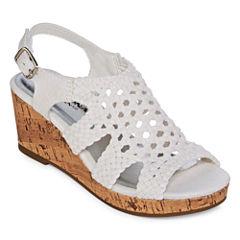 Arizona Peony Girls Wedge Sandals - Little Kids/Big Kids