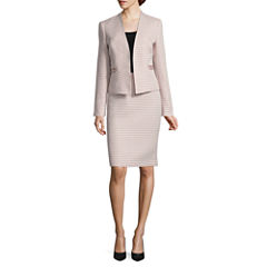 Black Label by Evan-Picone Long Sleeve Jacket with Pencil Skirt
