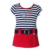 Lilt Short Sleeve Cap Sleeve Babydoll Dress - Baby Girls