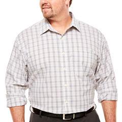 Van Heusen Long Sleeve Non-Iron Button-Front Traveler Shirt- Big and Tall