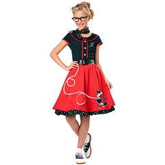 50s Sweetheart Child Costume 5-pc. Dress Up Costume Girls