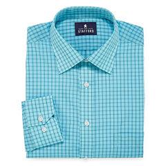 Stafford Travel Easy-Care Broadcloth Long Sleeve Dress Shirt