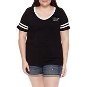 Short Sleeve V Neck Minons Graphic T-Shirt