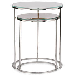Knox Glass Top 2-pc. Nesting Side Tables