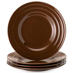Rachael Ray® Set of 4 Double Ridge Salad Plates