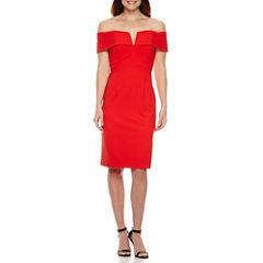 Scarlett Off the Shoulder Sheath Dress