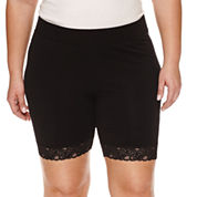 Boutique + Jersey Soft Shorts-Plus