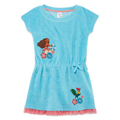 Disney Girls Moana Solid Dress-Big Kid