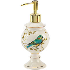 Avanti Gilded Birds Bath Soap Dispenser