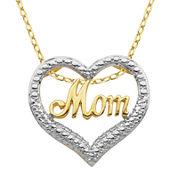 Classic Treasures™ Diamond-Accent Mom Heart Pendant Necklace