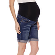 Maternity Overbelly Bermuda Shorts - Plus
