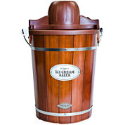Nostalgia 6-Quart Wood Ice Cream Maker